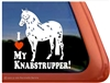 Knabstrupper Horse Trailer Window Decal