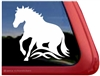 Reining Horse Trailer Window Decal