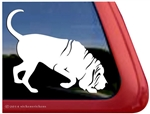 Bloodhound Dog Window Decal