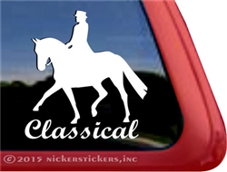 Classical Dressage Rider Horse Trailer Car Truck RV Window Decal Sticker