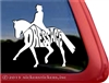 Dressage Rider Horse Trailer Car Truck RV Window Decal Sticker