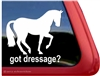 Dressage Piaffe Horse Trailer Window Decal