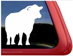 Black Angus Bull Window Decal