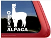 Huacaya Alpaca Car Truck RV Window Decal Sticker