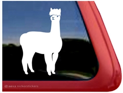 Huacaya Alpaca Window Decal