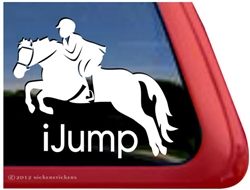 Welsh Pony Rider Jumping Horse Trailer Window Decal