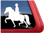 Welsh Pony Rider Horse Trailer Window Decal