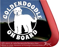 Goldendoodle Dog iPad Car Truck RV Window Decal Sticker