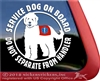Goldendoodle Service Dog Car Truck RV Window iPad Decal Sticker