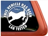 Lab Tested Labrador Retriever Gun Dog iPad Car Truck Window Decal Sticker