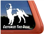 Irish Red and White Setter Window Decal
