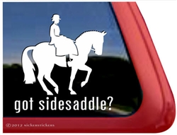 Sidesaddle Horse Trailer Window Car Truck RV iPad Laptop Decal Sticker
