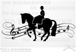 Musical Side Saddle Horse Trailer Window Decal