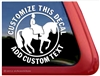 Sidesaddle Horse Trailer Window Truck RV iPad Laptop Decal Sticker