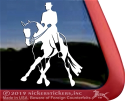 Custom APHA Dressage Horse Side Pass Vinyl iPad Car Truck RV Window Decal Sticker