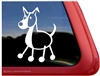 Border Collie Stick Dog Window Decal