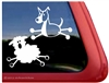 Border Collie Herding Sheep Stick Dog Window Decal