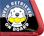 Over Achiever Retriever Dog iPad Car Window Decal Sticker
