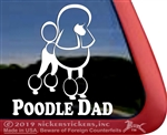 Continental Poodle Dad Dog iPad Car Truck Window Decal Sticker