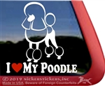 Love My Continental Standard Poodle Dog iPad Car Truck Window Decal Sticker