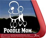 Continental Poodle Mom Dog iPad Car Truck Window Decal Sticker