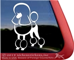 Custom Continental Standard Poodle Dog iPad Car Truck Window Decal Sticker