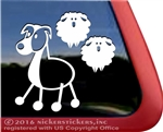 Australian Shepherd Aussie Stick Dog Car Truck RV Window Decal Sticker