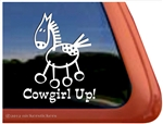 Appaloosa Stick Horse Window Decal
