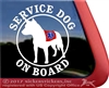 Australian Cattle Dog Heeler Service Dog Car Truck Window Decal Sticker