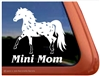Miniature Appaloosa Window Decal