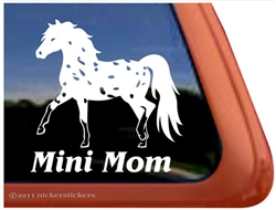 Miniature Appaloosa Horse Window Decal