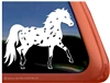 Custom Miniature Falabella Appaloosa Horse Trailer Car Truck RV Window Decal Sticker