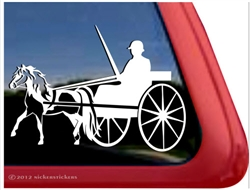 Miniature Horse Driving Window Decal