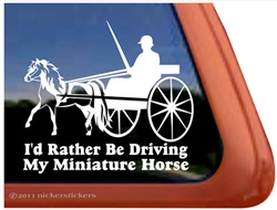 Miniature Pinto Driving Window Decal
