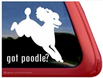 Got Poodle Jumping Dog iPad Car Truck Window Decal Sticker