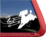 Custom Musical Freestyle Dancing Poodle Dog iPad Car Truck Window Decal Sticker