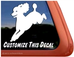 Custom Jumping Poodle Dog iPad Car Truck Window Decal Sticker