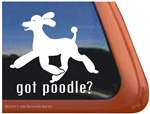 Got Poodle Trotting Dog iPad Car Truck Window Decal Sticker