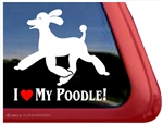 I Love My Poodle Trotting Dog iPad Car Truck Window Decal Sticker