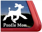 Poodle Mom Trotting Dog iPad Car Truck Window Decal Sticker