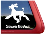 Custom Trotting Poodle Dog iPad Car Truck Window Decal Sticker