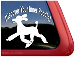 Discover Your Inner Poodle Dog iPad Car Truck Window Decal Sticker