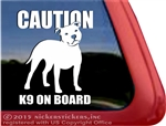 CAUTION K9 Staffordshire Bull Terrier Pit Bull Terrier Dog Car Truck RV Window Decal Sticker