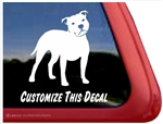 Custom Staffordshire Bull Terrier Dog Car Truck RV Window Decal Sticker