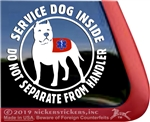 Service Dog Pit Bull Car Truck RV Window Decal Sticker