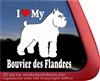 I Love My Bouvier des Flandres Vinyl Dog Car Truck RV Window Decal Sticker