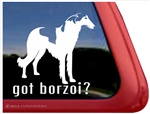Borzoi Window Decal