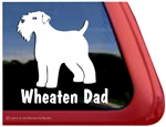 Wheaten Dad Wheaten Terrier Dog Car Truck RV Window Decal Sticker