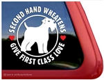 Rescue Love Wheaten Terrier Dog Car Truck RV Window Decal Sticker