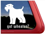 Wheaten Terrier Window Decal